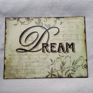 """Other - """"DREAM"""" distressed/ shabby chic metal wall sign"""